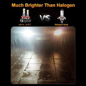 Image 4 - Lâmpada H7 HLXG Mini H4 luces LED Longe 12V 10000LM Acessórios Lâmpada Do Farol Do Carro 10000K 5000K 6000K 8000K H11 9005 HB3 9006 HB4 H8