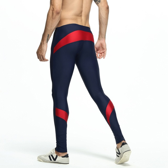Fashion Trousers Men's Lounge Pants Stretch Workout Nylon pants Compress Fitness Long Johns Shapewear Home and Out Door 6