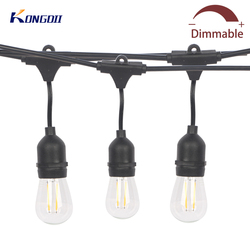 Светодиодный светильник S14, 10 м/15 м, водонепроницаемый, E27, светодиодный, ретро, лампа накаливания