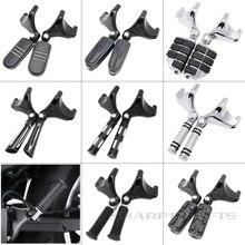купить 04-13 Rear Foot Rests Pegs Pedal Passenger Footpeg Assembly w/ Mount Kit For Harley Sportster XL 1200 X48 72 883 883R 883C 883L онлайн