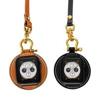 Onthelevel relógio de bolso de couro do vintage com pulseira torreta reloj acessórios de relógio para iwatch 1/2/3/4/5 dropshipping Pulseira do relógio     -