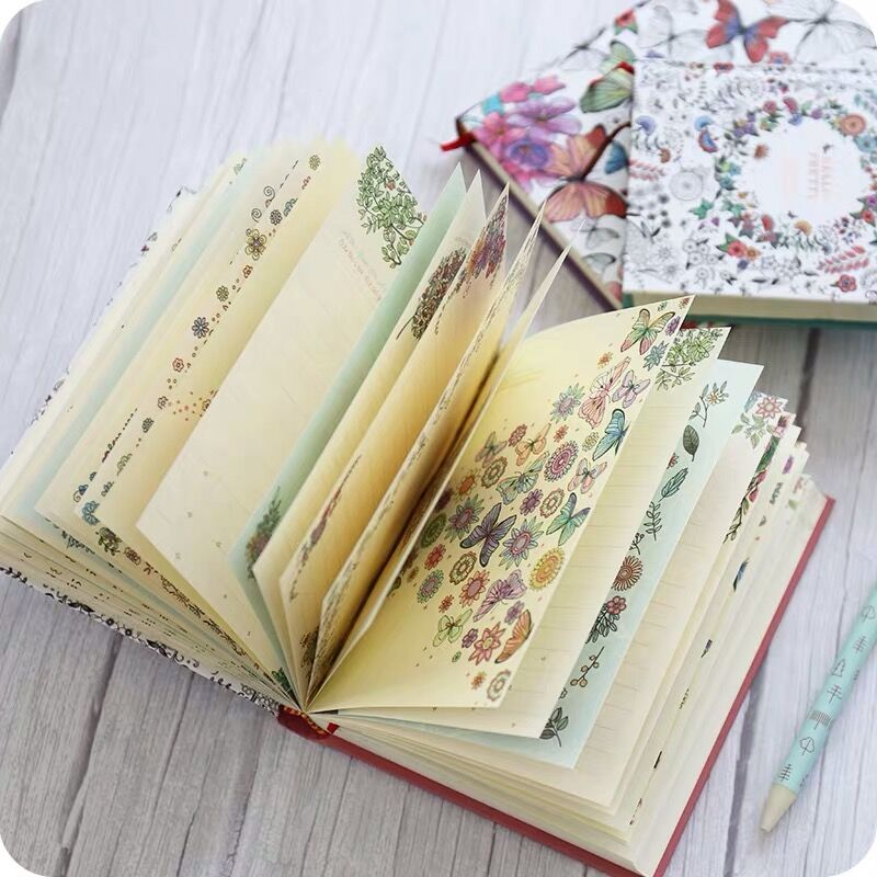 Sharkbang Secret Garden Series Pretty Flora A5 Diary Notebook And Journals Planner Agenda Sketchbook Gift Box Kawaii Stationery
