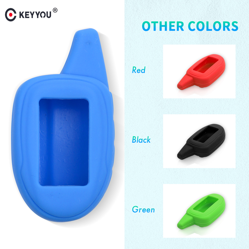 KEYYOU Russian Version M100/M7 Silicone Case For Scher-khan Magicar 7 8 9 10 11 12 LCD Two Way Car Alarm System M7 Key Cover
