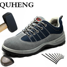 Safety-Boot Protective-Shoes Steel-Toe Indestructible Anti-Smashing Outdoor Men QUHENG