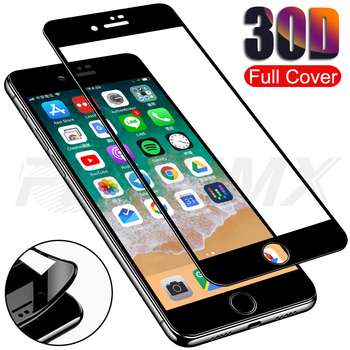 30D Full Cover Tempered Glass For iPhone 7 8 Plus Screen Protector Glass For iPhone 7 8 6 6S Plus soft edge Protective Film Case 1