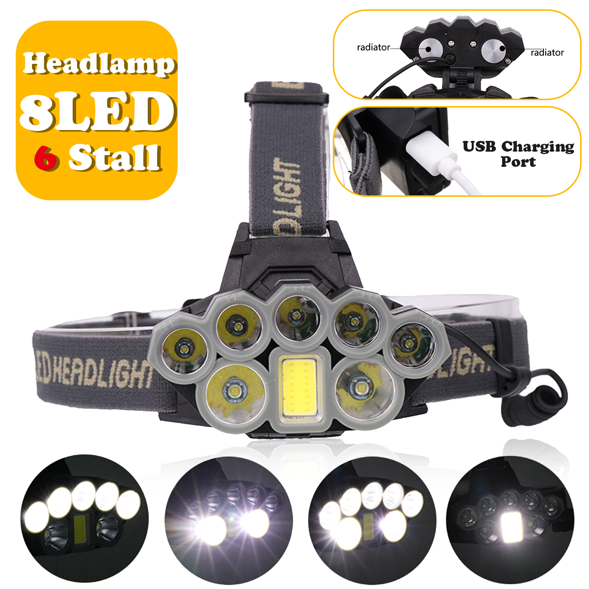headlight 140000lm LED Smuxi headlamp 7 t6 head light 6 modes waterproof flashlight zoomable 18650 include for hunting cycling