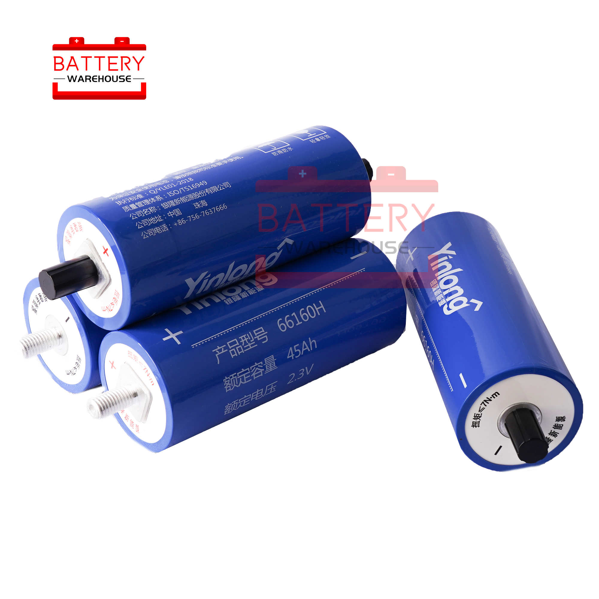 12PCS 2.3v 45Ah LTO <font><b>66160</b></font> Lithium Titanate Battery Cell new not 2.4v40AH 66160H YINLONG 12v 14.4v Power Long Cycle Life Stocks image