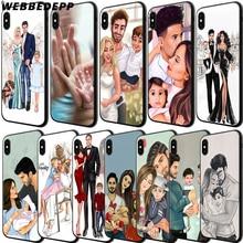 WEBBEDEPP Mom Dad Baby family Soft TPU Case Cover for Apple