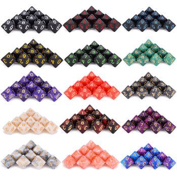 10pcs D10 Sided Polyhedral Dice for Tabletop RPG World of Darkness Vampire  Set of 10 D10 10pcs lot d10 0mmx30mmx100mm 2 flutes flat 100