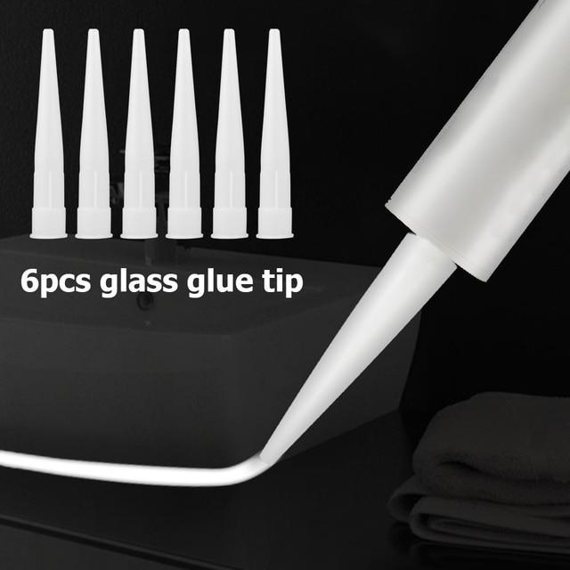 12pcs Plastic Universal Caulking Nozzle Glass Glue Tip Mouth Home Improvement Construction Tools 2