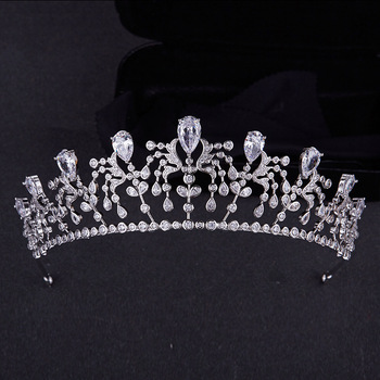 Classic Zircon Bridal Crown Wedding Hair Accessories Bridal Headpiece Best Selling 2018 Products Women Tiara Head Piece Crown