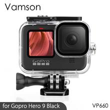 Vamson Waterproof Housing Case Tempered Glass for GoPro Hero 9 Black Dive Protective Underwater for Go Pro 9 Accessories VP660 cheap CN(Origin) Waterproof Housings