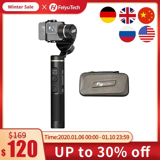 FeiyuTech G6 SPLASH PROOF Handheld Gimbal ขาตั้งกล้อง Action Stabilizer กล้อง Bluetooth & WIFI สำหรับ GoPro HERO 7 6 5 SONY RX0 Feiyu