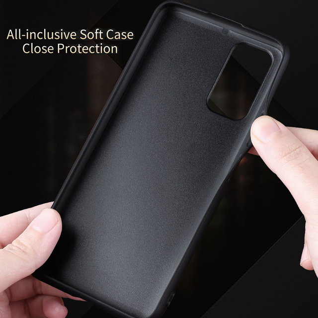 X-Level Leather Case For Samsung S20 Plus Original Soft Silicone Edge Back Phone Cover For Samsung Galaxy S20 Ultra Case S20 5G 2