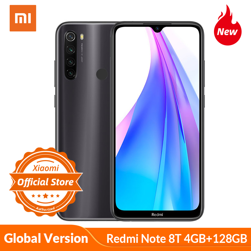 Xiaomi Redmi Note 8 T Note 8T Global Version 4GB 128GB Smartphone Snapdragon 665 48MP AI Quad Camera 4000mAh 18W Fast Charge NFC