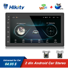 """Автомобильный мультимедийный плеер Hikity, универсальный мультимедийный плеер на Android 8,1, с 7 """"сенсорным экраном, GPS, для Nissan, TOYOTA, Kia, RAV4, Honda, VW, Hyundai, типоразмер 2DIN"""