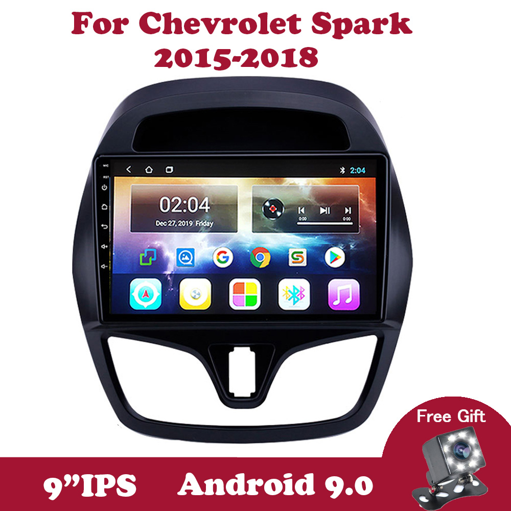 Android 9.0 IPS 2din Car DVD Radio For <font><b>Chevrolet</b></font> Chevy <font><b>Spark</b></font> 2015 2016 <font><b>2017</b></font> 2018 Multimedia Stere Player Navigation GPS WIFI OBD image