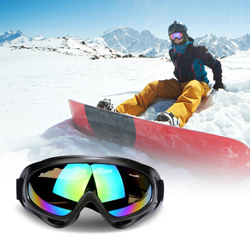 1pcs Winter Ski Snowboard Goggles Mountain Skiing Eyewear Glasses Outdoor Sports Snowmobile Moto Cycling Sunglasses Anti-fog Ski