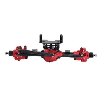 RC Car CNC Metal Front Axle with Protector for 1:10 RC Crawler Car Axial SCX10 II 90046 90047 недорого
