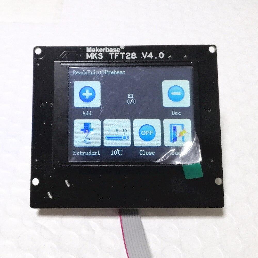 MKS GEN L V2.0 + MKS TFT28 pantalla en color minipanel pantalla táctil barato 3D impresión kits escolares controlador 3d impresora starter unidad - 4