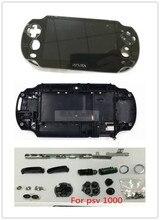 الإسكان شل حالة تغطية ل PSVita PS فيتا PSV1000 وحدة التحكم حالة مع مجموعة كاملة من اكسسوارات استبدال