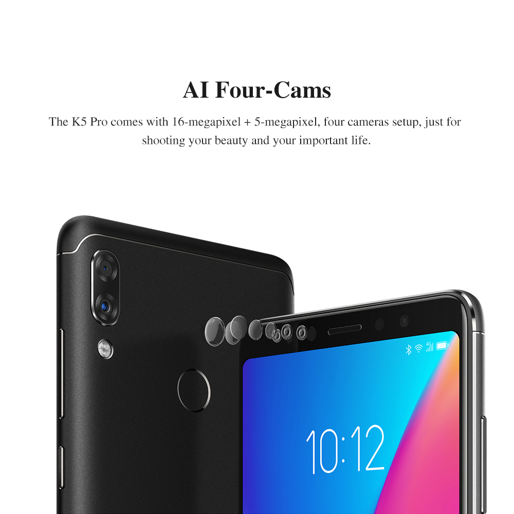 """H3e258c46f7ca4aabb1204c5f7f681dffy lenovo k5 pro 6G 128G Global ROM  ZUI 4G LTE 5.99""""inch Mobile Phone Snapdragon Octa-core Dual Back"""
