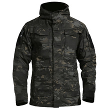 Men Jacket Long Coat Spring Clothing Hoodie Outwear Windbreaker Tactical-Trench Military