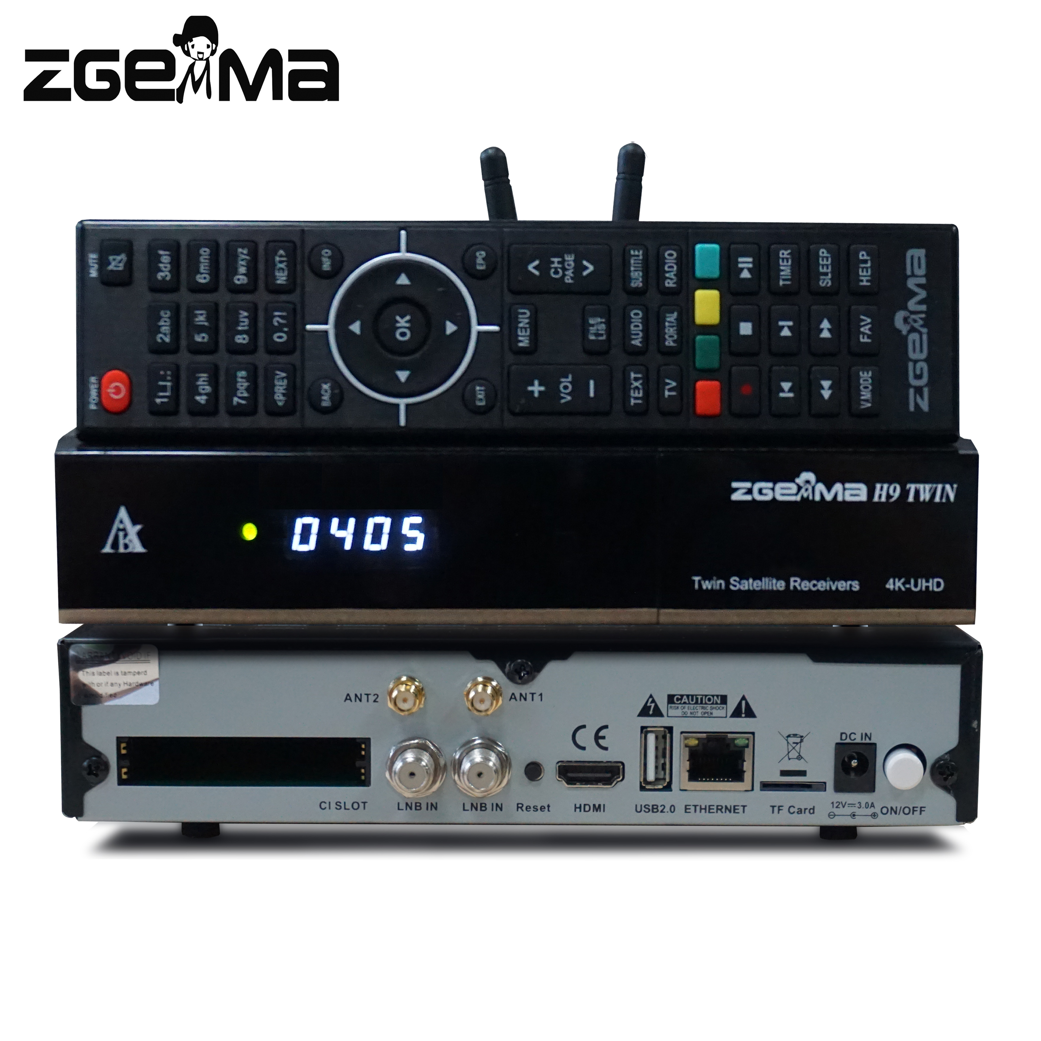 2pcs/lot 4K UHD Zgemma H9 TWIN 2*CI+Linux E2 2*DVB-S2X IPTV twin Satellite TV Receiver T2-MI WIFI Built-in image