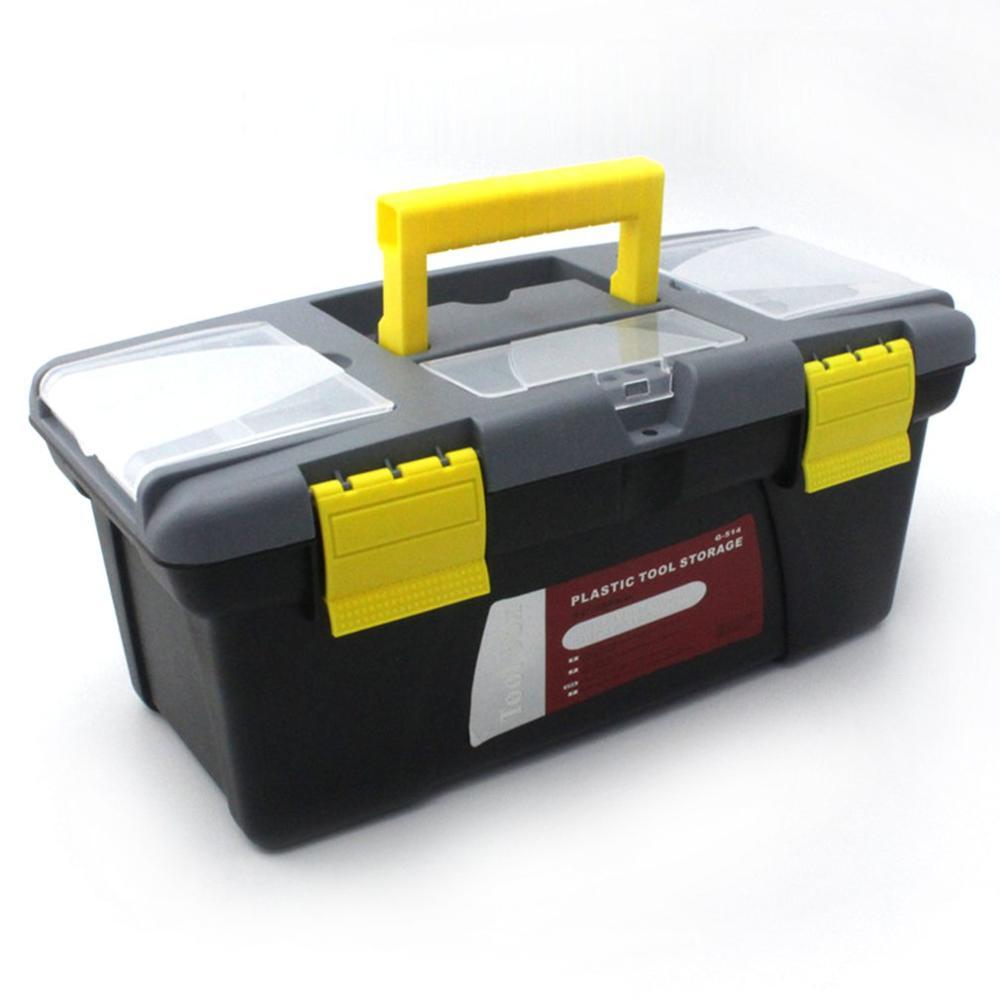 Large Size Portable Plastic Hardware Toolbox Household Multifunction Maintenance Toolbox Car Storage Box Anti-fall Box Tool Case
