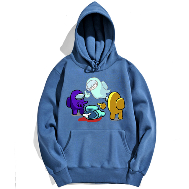 AMONG US CREWMATE SUSPECT IMPOSTOR THEMED HOODIE