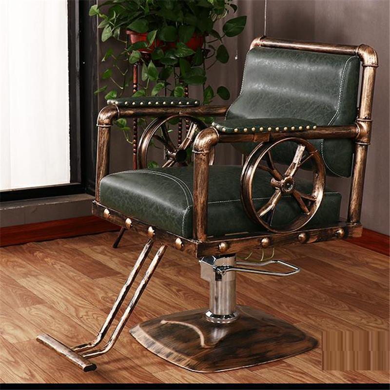 Schoonheidssalon Mueble Stoelen cappersstoelen Barbeiro Hair Sedie De Belleza Sedia Cadeira Salon Barbearia Silla парикмахерское кресло - Цвет: MODEL E