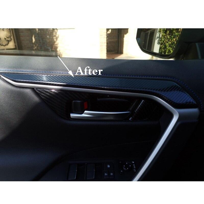 lowest price for toyota rav4 rav 4 xa50 2019 2020 interior accessories Inner Door Handles Frame Strip Decoration cover Trim