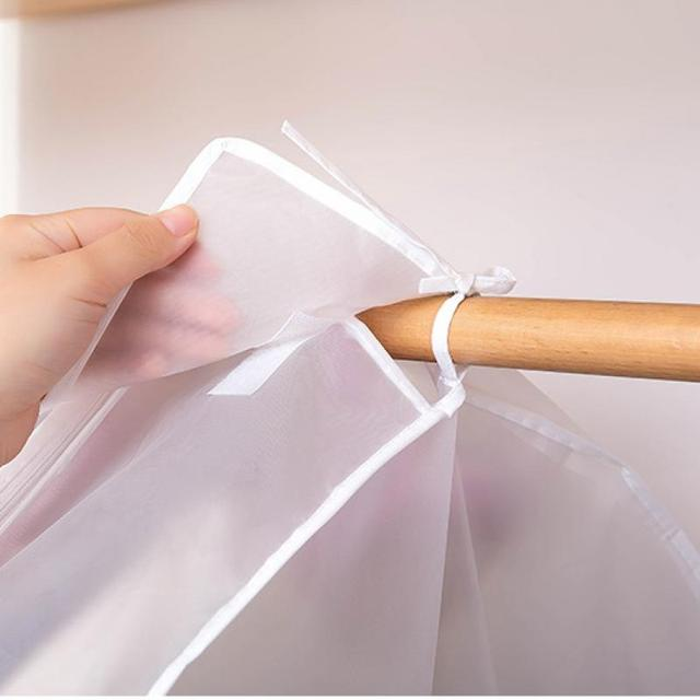 Garment Clothes Cover Protector Dustproof Storage Waterproof Suit Coat Clothes Dust Storage Bag Hanging Organizer Wardrobe 3