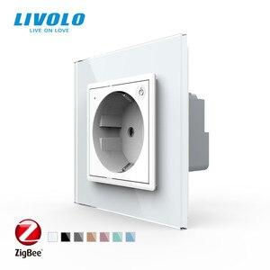 Image 1 - Livolo EU Standard New Smart Wifi Power Socket,Crystal Glass Panel, smartphone 16A Wall Power Socket, wifi app,aleax,googel home