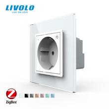 Livolo стандарт ЕС новая умная Wifi розетка, кристальная стеклянная панель, смартфон 16А настенная розетка, wifi приложение, aleax,googel home