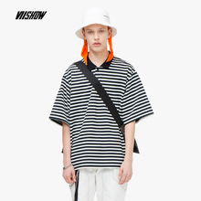 VIISHOW 2019 summer new brand polo shirt male half sleeve mens striped printed short-sleeved p-shirt PD1312192