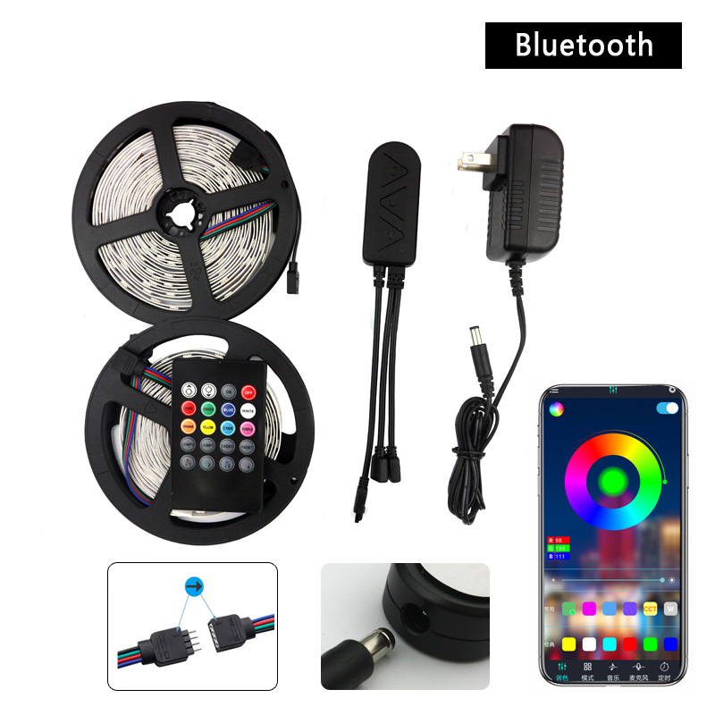 <font><b>LED</b></font> Strip <font><b>Lights</b></font>, 33FT/<font><b>10M</b></font> Color Changing Strip SMD5050 RGB <font><b>Light</b></font> Strips with Bluetooth Controller Sync to Music for decoration image