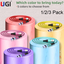 UGI 1/2/3 Pack Quick Charging Magnetic Cable 3 IN 1 Micro USB & IOS& USB-C 1M 360° Fast Charger Strong Durable Magnet