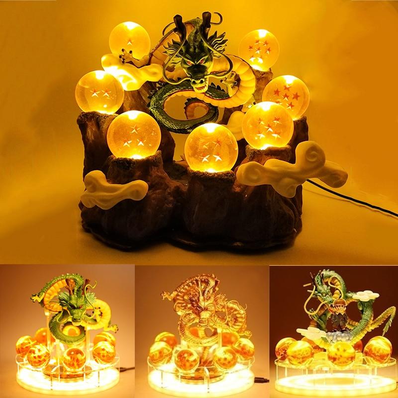 Dragon Ball Lamp Shenlong Action Figure Shenron Dragon Ball Super Goku Led Night Light Shenlong Anime Figurine Collection Gift(China)