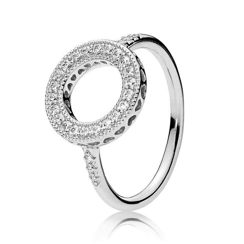 Кольцо на палец в форме сердечко серебряного цвета для женщин, европейская оригинальная Корона, изящные кольца на палец, свадебные украшения, 50 стилей, Прямая поставка - Цвет основного камня: Rings 002