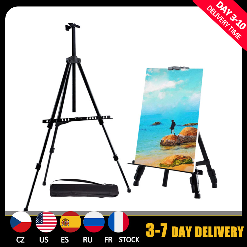 Portable Adjustable Metal Sketch Easel Stand Foldable Travel Easel Aluminum Alloy Easel Sketch Drawing For Artist Art Supplies