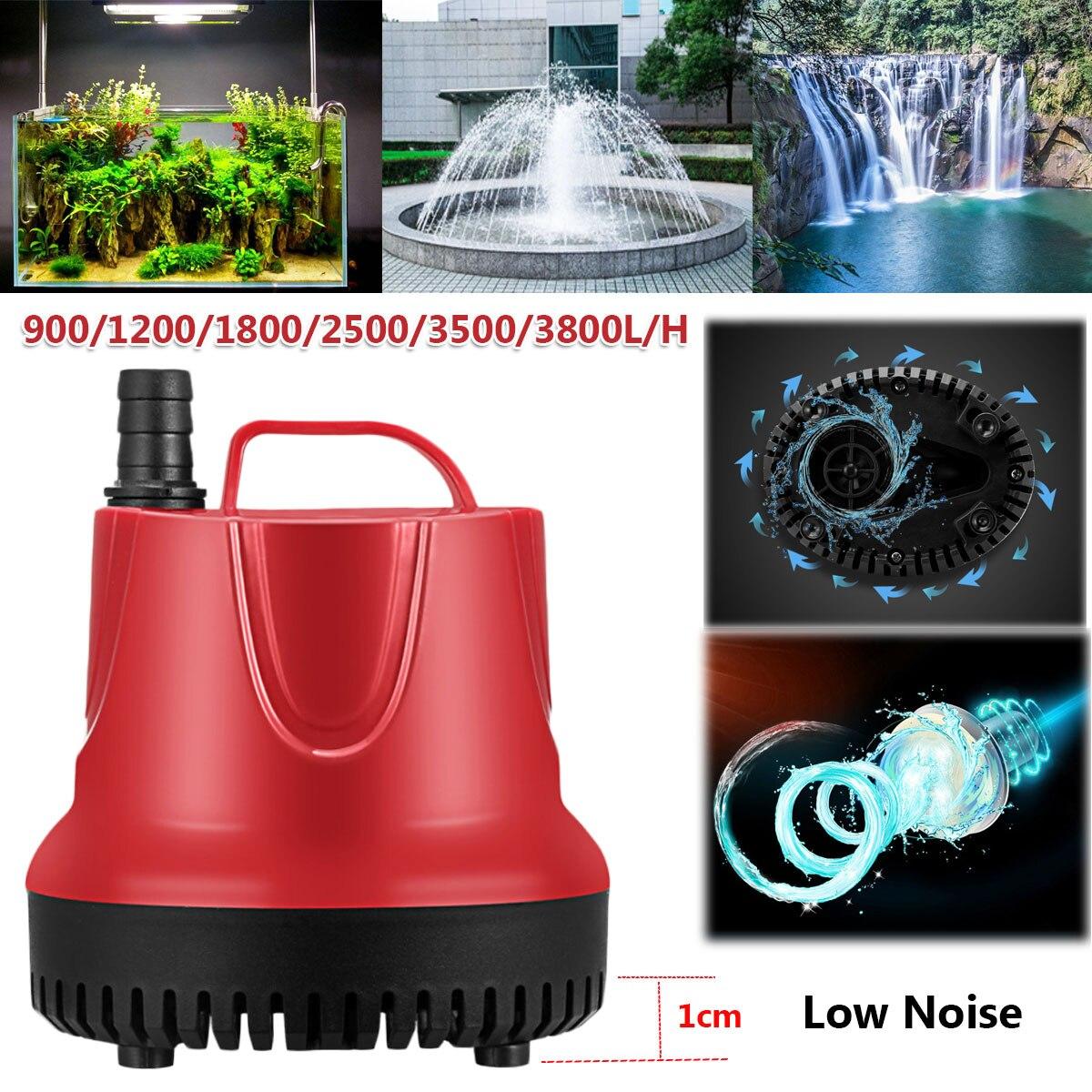 10/15/30/45/60/80W 50Hz Water Pump Fish Tank Submersible Ultra-Quiet Pump Fountain Aquarium Pond Spout Feature Pump with US Plug