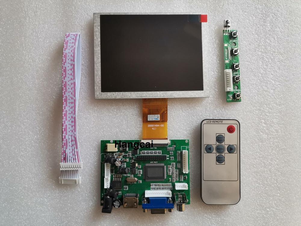 HDMI+VGA+2AV ZJ050NA-08C 50 Pin 640*480 LCD Display Driver Board Controller Kit For Panel