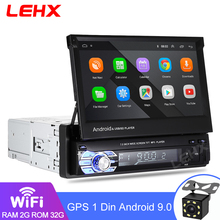 """1Din Radio samochodowe Android 9.0 2GB RAM odtwarzacz multimedialny uniwersalna kamera odtwarzacz audio wideo GPS 7 """"HD chowany ekran 1DIN bez DVD"""