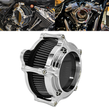 RSD Turbine Clarion Air Cleaner Chrome Intake Filter For Harley Sportster Iron 883 1200 Softail FXSTF Touring FLHRC FLHTC Dyna