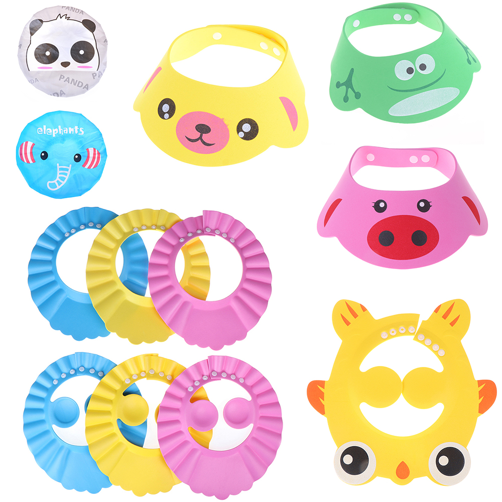 1pc Shampoo Cap Baby Bath Visor Hat Adjustable Baby Shower Protect Eye Water-proof Hair Wash Shield For Infant