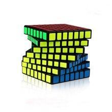 XMD Mofangge Qiyi QiXing cubo de 7x7x7, 7cm, S stickerless Qixing, rompecabezas mágico de 7x7, MoFangGe, juguetes educativos profesionales para niños
