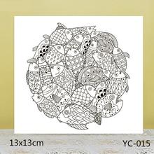 AZSG Cute fat fish Clear Stamps For DIY Scrapbooking/Card Making/Album Decorative Rubber Stamp Crafts