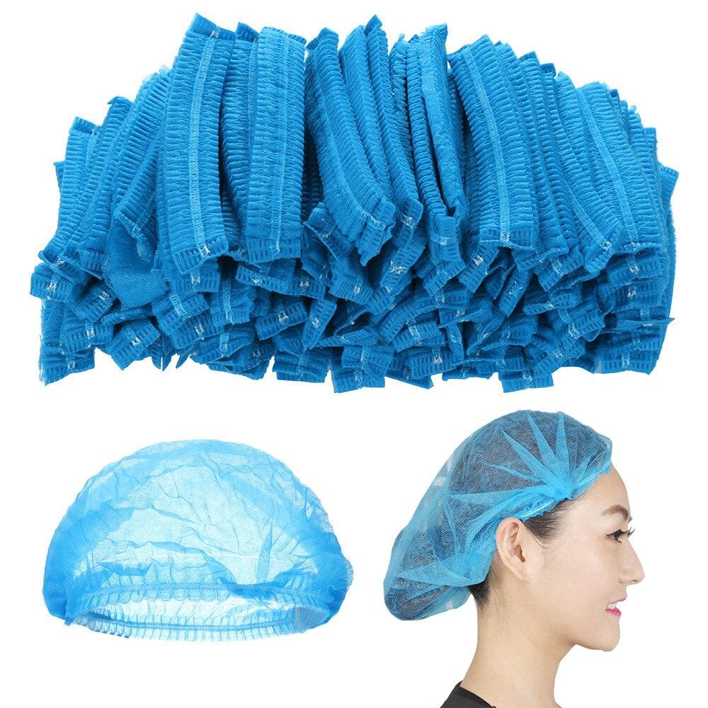 100pcs Disposable Non-Woven Paper Cap - Hair Net