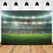 Yeele כדורגל שדה כדורגל אצטדיון יילוד תינוק מקלחת ילד יום הולדת רקע ויניל צילום רקע Photophone שיחת וידאו